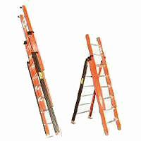 Escaleras de fibra de vidrio tijera doble con extension o - Escalera fibra de vidrio ...