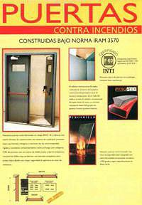 Puertas contra incendio rf 30 rf 60 rf 90 rf 120 puertas for Puertas contra incendios
