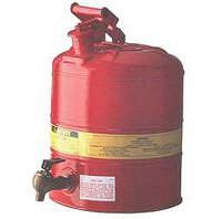 Bidones seguridad laboratorio BIDONES PARA LABORATORIO METALICOS JUSTRITE 7150140 (Ex 10807) CON GRIFO 08540 - 19 Lts