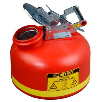 Bidones de seguridad acidos BIDONES PLASTICOS PARA ACIDOS JUSTRITE 14762 DE BOCA ANCHA CON ACCESORIOS DE ACERO INOXIDABLE - 8 Lts