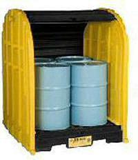COBERTIZOS ANTIDERRAMES PARA ALMACENAR 4 TAMBORES JUSTRITE 28676 EcoPolyBlend™ DrumSheds™