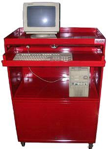 Mesas metalicas para computadora con tapas muebles de for Muebles drago